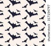 happy halloween seamless... | Shutterstock .eps vector #317154797