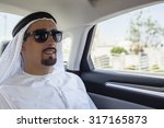 young arabian man is traveling... | Shutterstock . vector #317165873
