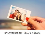 retro photo of girl hand... | Shutterstock . vector #317171603
