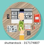 flat design vector illustration ... | Shutterstock .eps vector #317174807