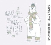 the lettering   merry christmas ... | Shutterstock .eps vector #317178293