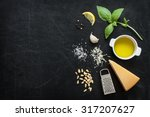green basil pesto   italian... | Shutterstock . vector #317207627