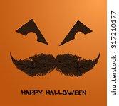 vector pumpkin portrait with...   Shutterstock .eps vector #317210177