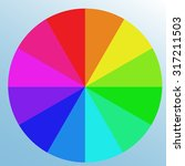 saturated bright color swatch ... | Shutterstock .eps vector #317211503
