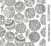 seamless pattern with christmas ... | Shutterstock .eps vector #317240903