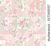 seamless patchwork pattern with ... | Shutterstock .eps vector #317243537
