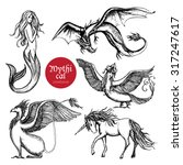 Mythical Creatures Hand Drawn...