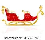 red christmas sleigh of santa... | Shutterstock .eps vector #317261423