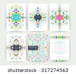 set of geometric abstract... | Shutterstock .eps vector #317274563