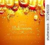 halloween background with...   Shutterstock .eps vector #317280233