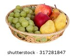 Wicker Basket With Fruits...