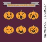 flat icons emotions pumpkin... | Shutterstock .eps vector #317285237