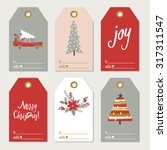 christmas gift tags | Shutterstock .eps vector #317311547