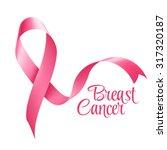 breast cancer awareness ribbon... | Shutterstock .eps vector #317320187
