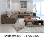 fusion style in interior of a... | Shutterstock . vector #317323523