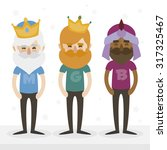 the three hipsters kings of... | Shutterstock .eps vector #317325467