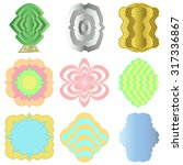 set of 9 labels made in... | Shutterstock .eps vector #317336867