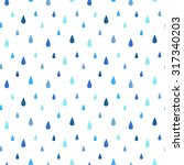 rain seamless vector pattern.... | Shutterstock .eps vector #317340203