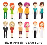 collection of different men and ... | Shutterstock .eps vector #317355293