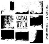 grunge black textures on white... | Shutterstock .eps vector #317369453
