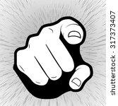 vector pointing finger or hand... | Shutterstock .eps vector #317373407