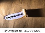 torn paper with word empowerment | Shutterstock . vector #317394203
