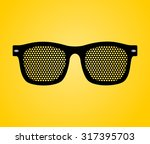 hipster sunglasses icon.... | Shutterstock .eps vector #317395703