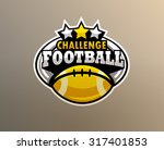 logo college american football. ... | Shutterstock .eps vector #317401853