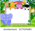 animals with a banner | Shutterstock .eps vector #317424683