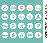 flat icons set   transport | Shutterstock .eps vector #317430173