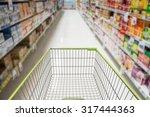 supermarket interior  empty... | Shutterstock . vector #317444363