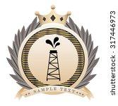 warranty seal design  vector... | Shutterstock .eps vector #317446973