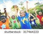 children family enjoyment... | Shutterstock . vector #317464223