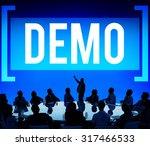 demo preview trailer trial... | Shutterstock . vector #317466533