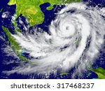 huge hurricane near southeast... | Shutterstock . vector #317468237