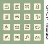 travel web icons set | Shutterstock .eps vector #317473397