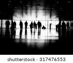 three business people walking... | Shutterstock . vector #317476553