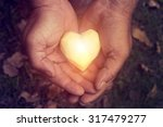 potato heart in the rough male... | Shutterstock . vector #317479277