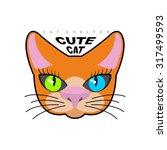 cute cat. logo for  kitty...   Shutterstock .eps vector #317499593