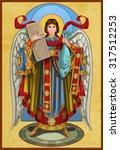 archangel raphael  | Shutterstock . vector #317512253