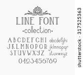 vector mono line decorative... | Shutterstock .eps vector #317525363