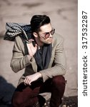 sexy fashion man model dressed...   Shutterstock . vector #317532287