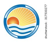 holiday icon with sun and sea | Shutterstock .eps vector #317533277