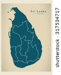 modern map   sri lanka with...