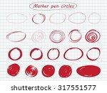 hand drawn circles.set of... | Shutterstock .eps vector #317551577