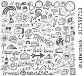 travel doodles sketch icons | Shutterstock .eps vector #317559713