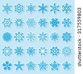 set of snowflakes | Shutterstock . vector #317559803