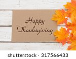 Happy Thanksgiving Card  A...
