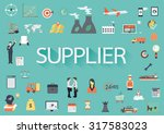 the word supplier with... | Shutterstock .eps vector #317583023
