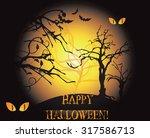 happy halloween background.... | Shutterstock .eps vector #317586713